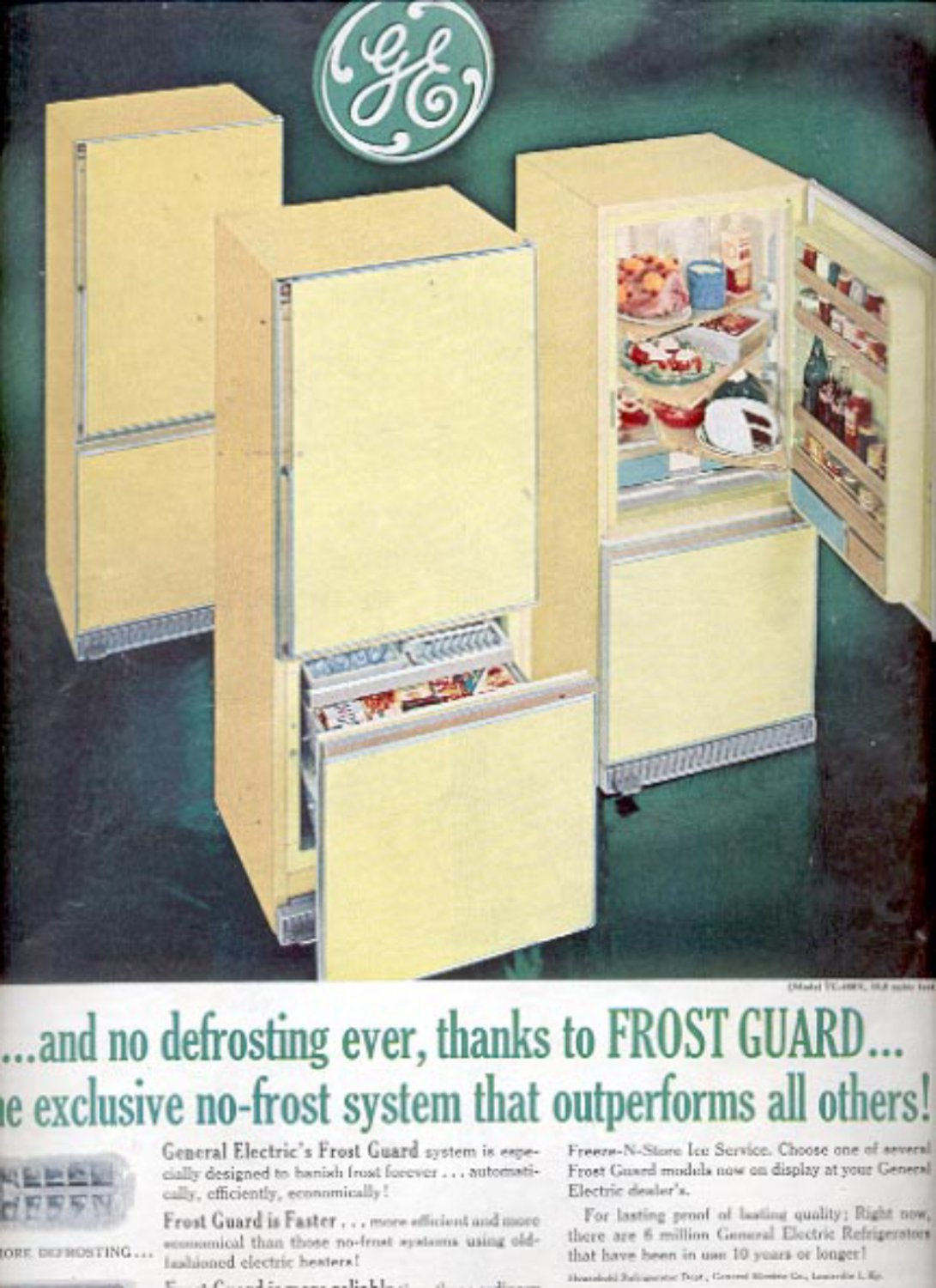 1961 General Electric Frost Guard Refrigerator   ad (#5427)