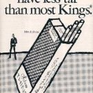 1971  Silva Thins 100's  cig  ad (#  1510)
