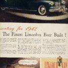 1941 ad of 1942 Lincoln Zephry V-12 Contintental Custom  (314)