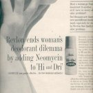 1961 Revlon Hi and Dri  with neomycin deodorant ad (#5878)
