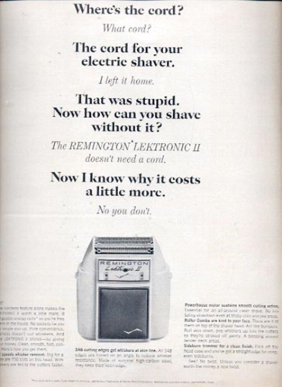 1964   Remingotn Lektronic II  shaver ad (# 4853)