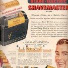 1957  Sunbeam Shavemaster Razor ad (# 4755)