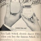 1957   Schick electric Shaver ad (# 4665)