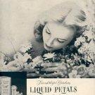 1952 Shulton Liquid Petals Cream Perfume ad (# 2305)