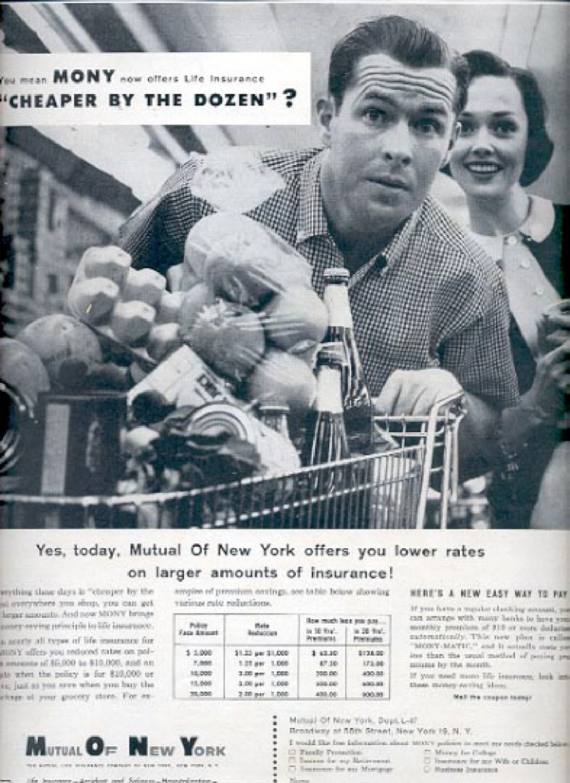 1957  Mutual of New York Insurance Company  ad (# 4933)