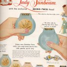 Dec. 13, 1955 Lady Sumbeam with Micro-twin head ad (# 813)