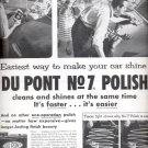 1954   Du Pont No 7 Auto Polish and cleaner  ad (# 5151)