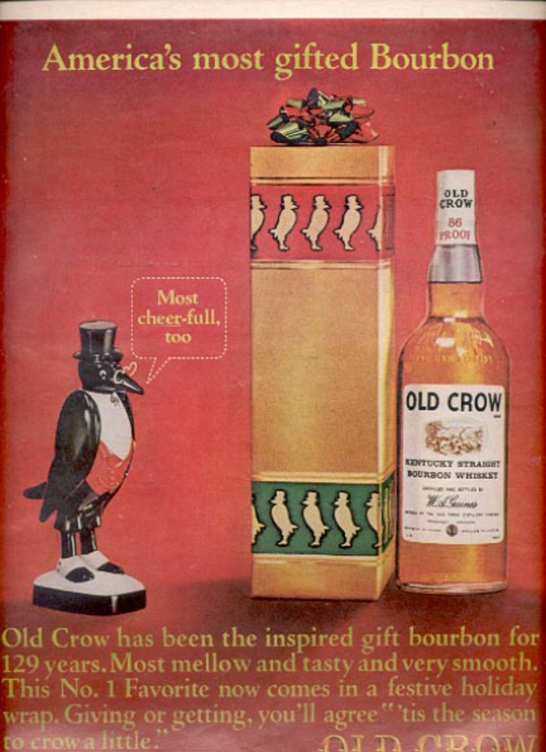 1964 Old Crow Bourbon Whiskey  ad (#5436)