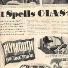 1940 ad of 1941 Plymouth  (# 1859)