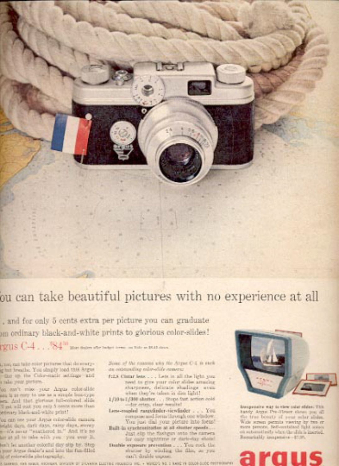 1957 Argus color-slide camera  ad (# 4963)