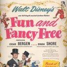 Sept. 1, 1947       Walt Disney's Fun and Fancy Free movie      ad  (#6441)