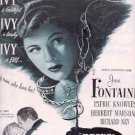 "1947 ""Ivy"" Movie ad w/Joan Fontaine (# 2151)"