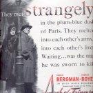 Sept. 22, 1947 Arch of Truimph movie with Ingrid Bergman    ad (#6254)