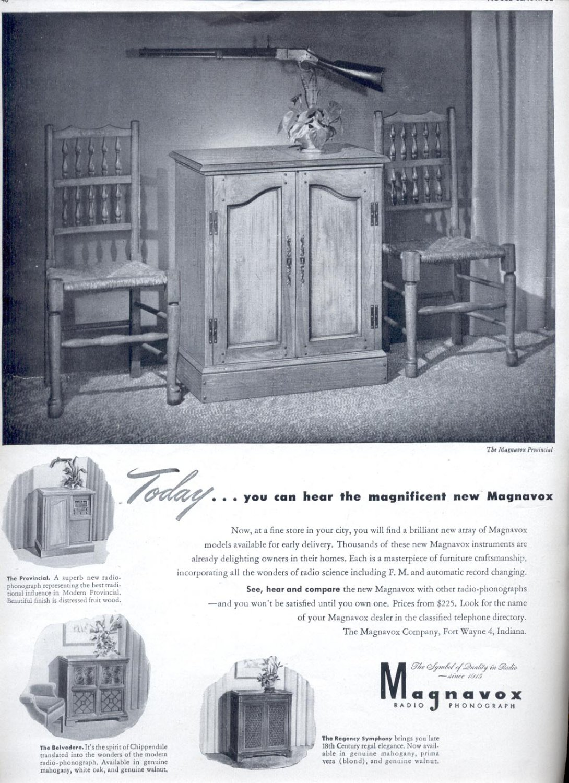 Jan. 1947  Magnavox Radio Phonograph    ad (#132)