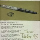 1963 Parker 45 Convertible Pen ad (# 572)