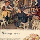 1947 Beer Belongs...Enjoy It ad (# 2111)
