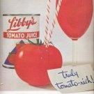 Nov. 1960  Libby's Tomato Juice   ad (#5772)