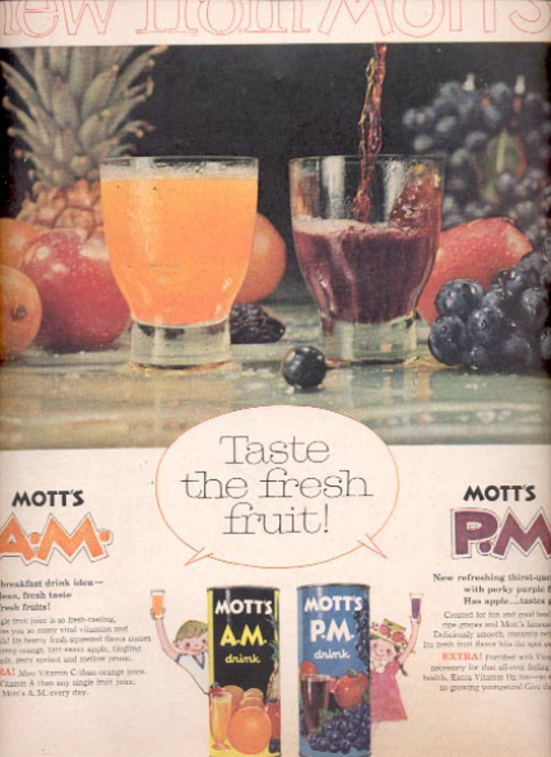 1960 Mott's Fruit Drink   ad (#5453)