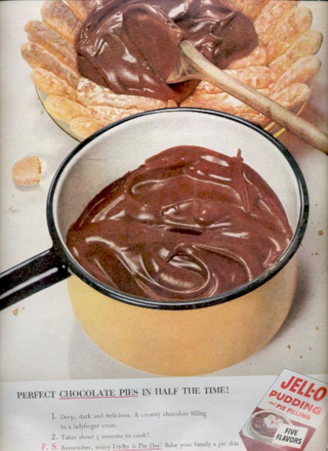 1953  Jell-o pudding and pie filling ad (#5586)