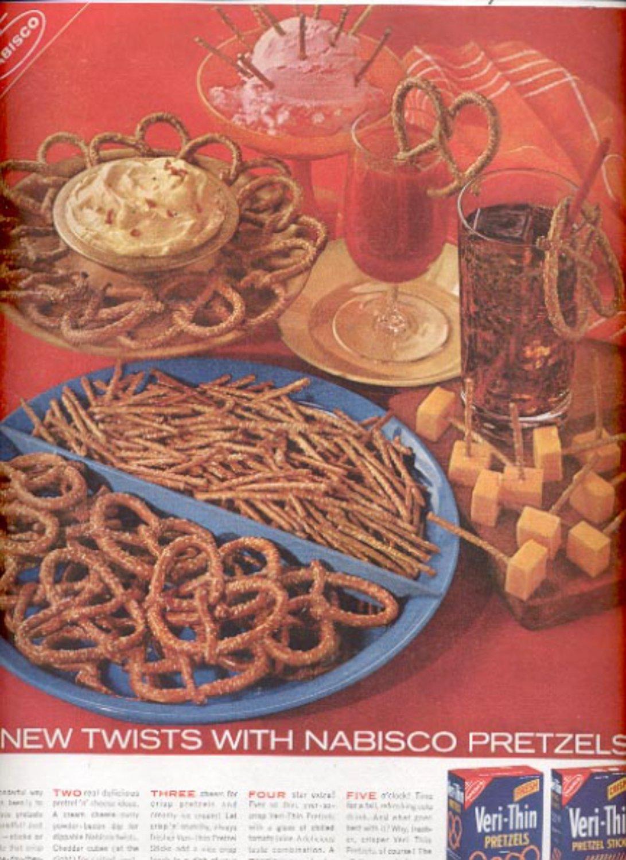 1960  Nabisco Pretzels  ad (#5474)