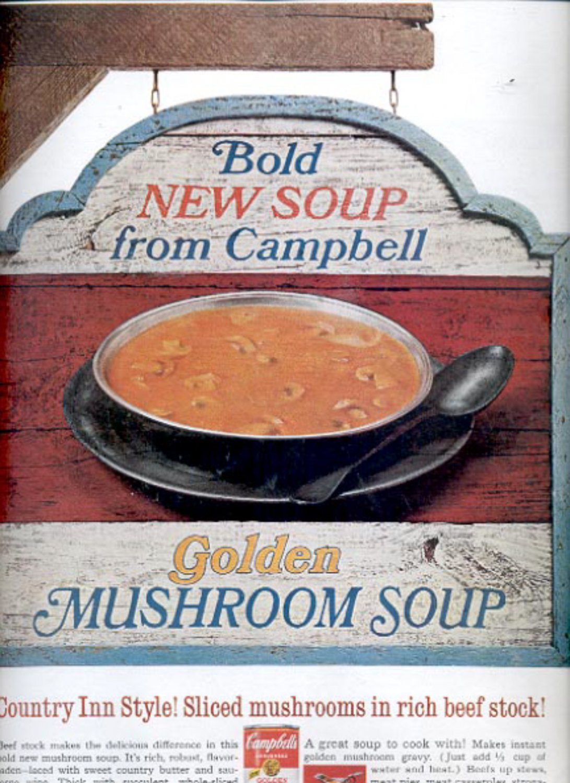 1967 Campbell golden mushroom Soup   ad (#5468)