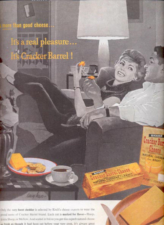 1960 Kraft Cracker Barrel Cheese  ad (#5458)