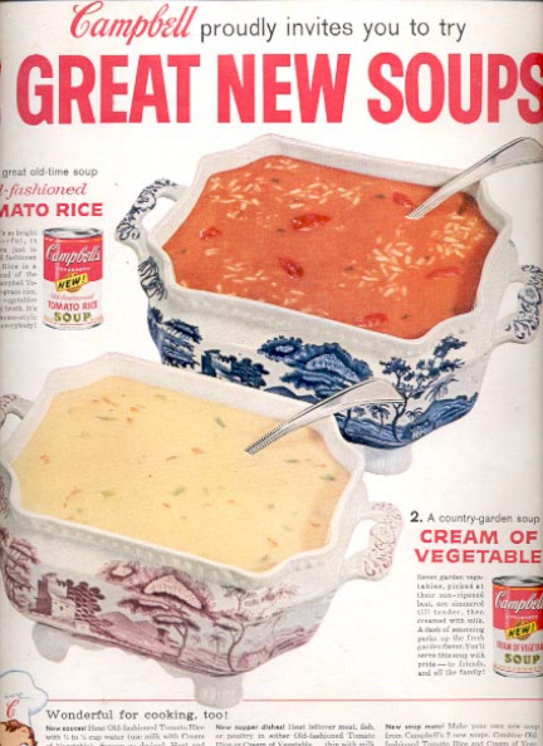 1960  Campbell  great new soups  ad (#5371)