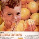 1960  Florida Citrus Commission- Florida oranges more juice    ad (# 5183)