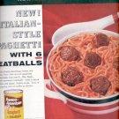 1957  Franco-American Spaghetti with meatballs  ad (# 4993)