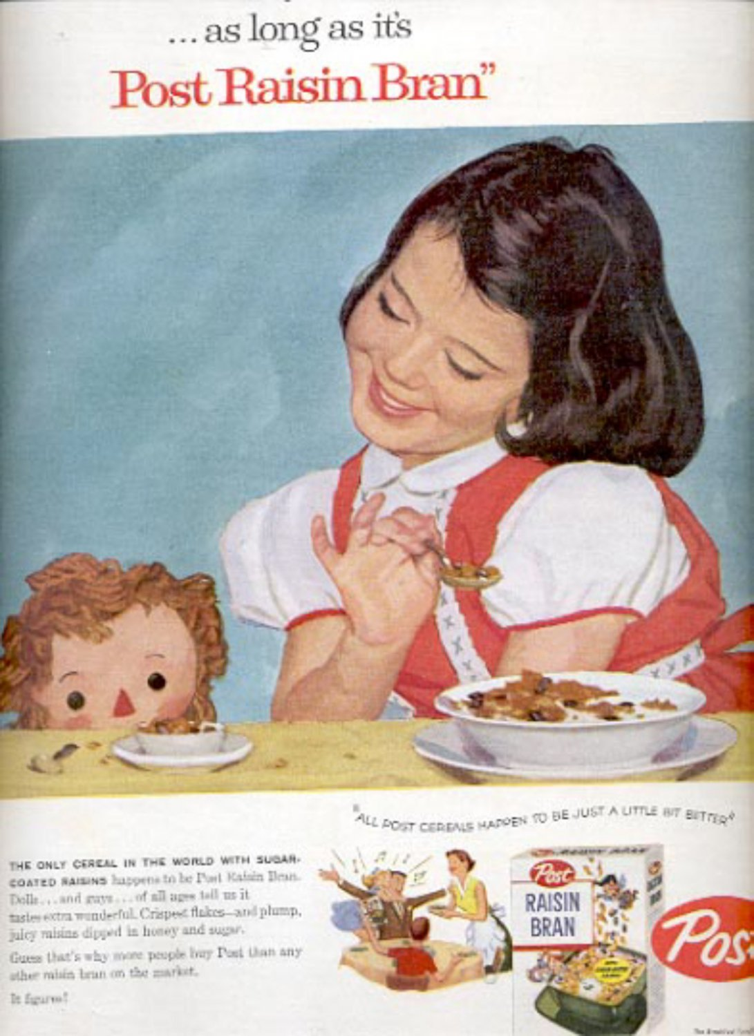1957  Post Raisin Bran  ad (# 4994)