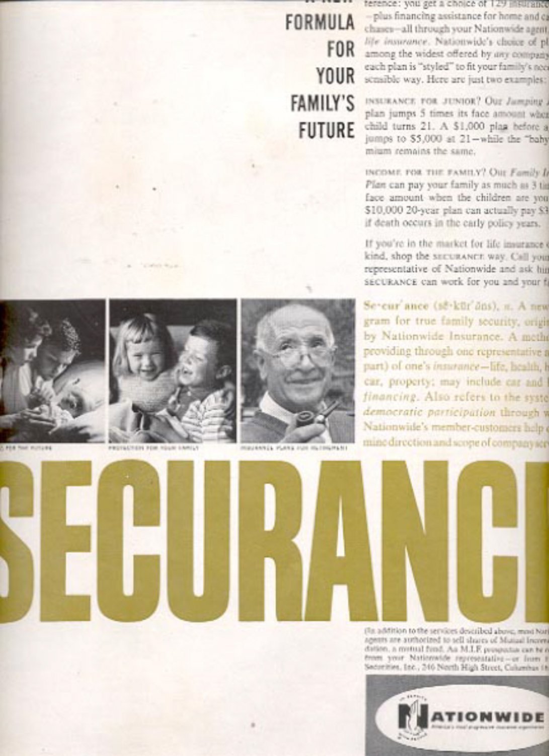 1960 Nationwide Securance   ad (#5446)