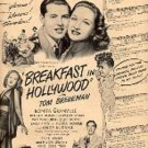1946  Breakfast in Hollywood movie ad (# 1768)