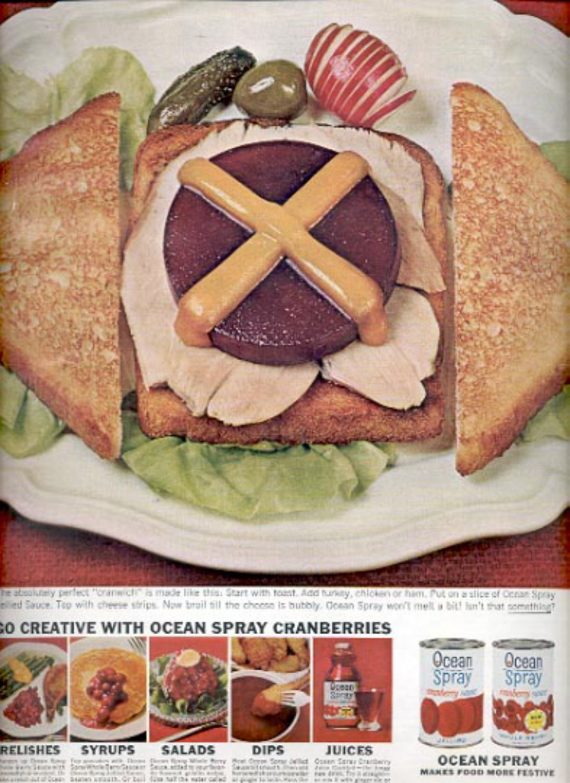 1964    Ocean Spray cranberry sauce  ad (# 4890)
