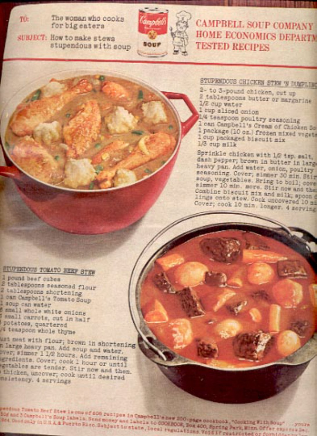 1964    Campbell's Soup   ad (# 4885)