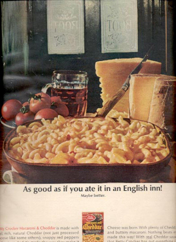 1964    Betty Crocker Macaroni & Cheddar  ad (# 4874)