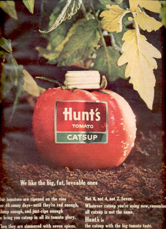 1964   Hunt's Tomato catsup  ad (# 4880)