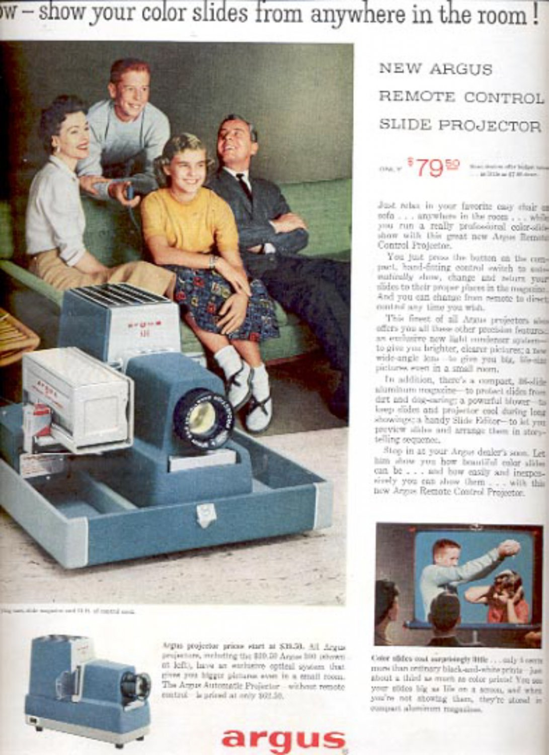 1957  Argus slide projector ad (# 4978)