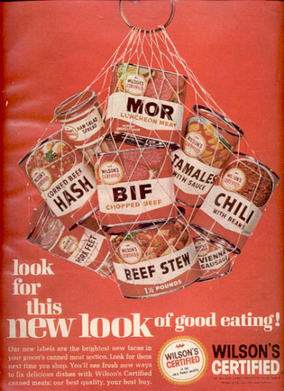 1964  Wilson's Certified canned meats   ad (# 4864)