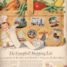 1957  Campbell's Shopping list ad (# 4680)