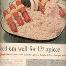 1957  Libby's Sauerkraut and kabobs   ad (# 4651)