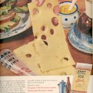 1957  Kraft Natural Swiss Cheese sliced  ad (# 4650)