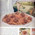1960  Chef Boy-Ar-Dee Spaghetti and meat balls ad (# 4538)