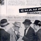 1955  Champ Hats ad (# 2986)