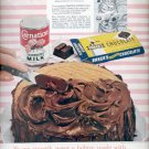 1959   Carnation Evaporated Milk and Baker's Unsweetened Chocolate ad (# 4370)