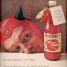 1958  Snider's the hotter catsup  ad (#4087)
