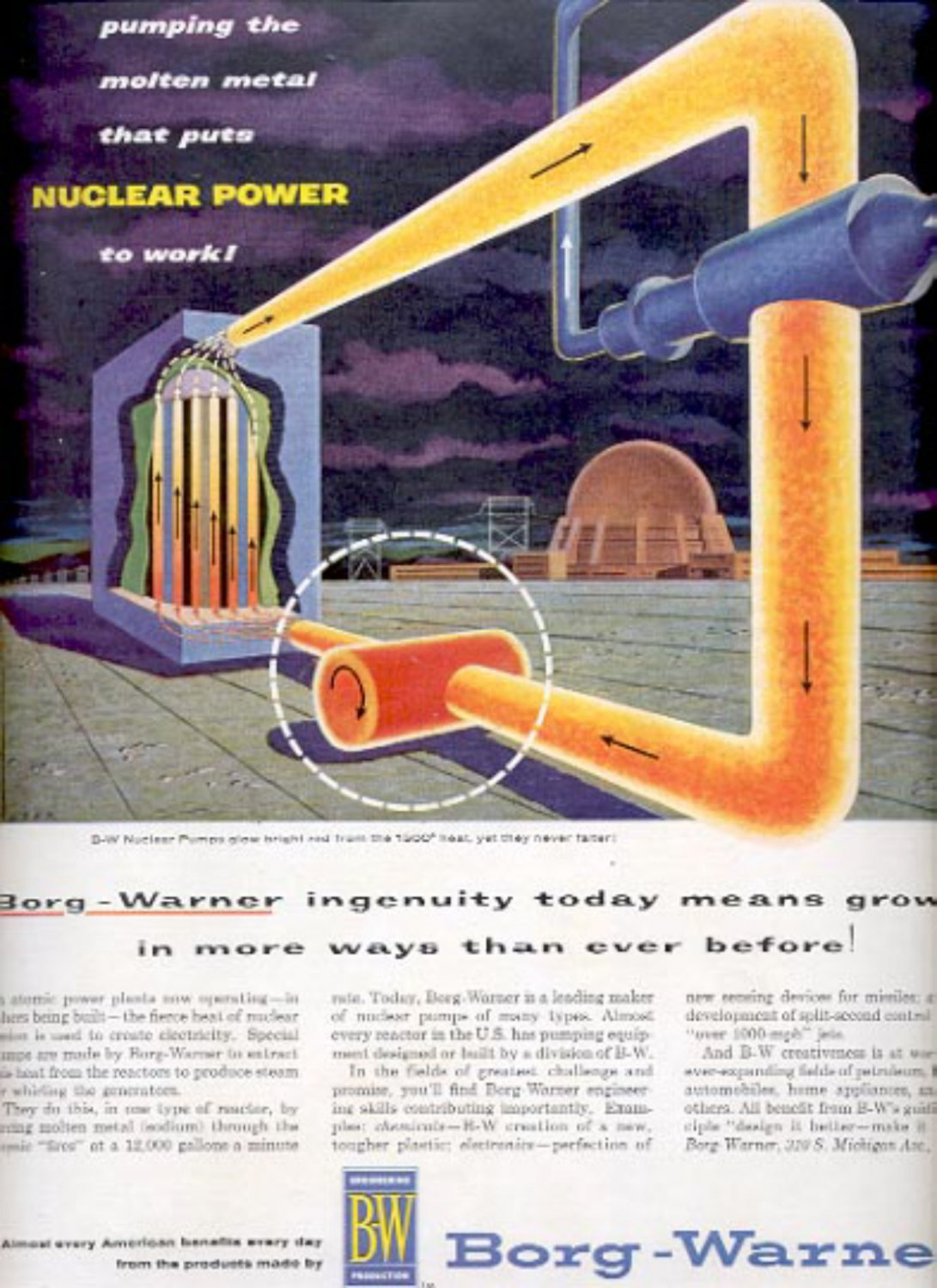 1957  Borg- Warner  Nuclear Pumps  ad (# 4973)