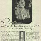1932  Listerine Toothpaste       ad (  # 953)