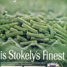 1962 Stokely's Finest Cut Green Beans ad ( # 2570)
