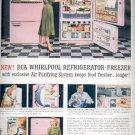 1957  RCA Whirlpool Refrigerator- Freezer   ad (# 4813)