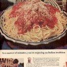 1964  Chef Boy-Ar-Dee   Spaghetti Dinners ad ( # 2559)